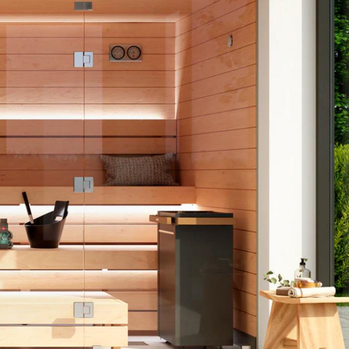 Indendørs sauna kabiner